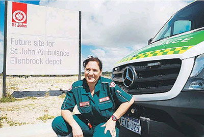 Station manager Suleen Van Der Westhuizen at the site of the new Ellenbrook depot on Commercial Road.